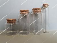 فروش عمده شیشه ویال با درب چوب پنبه ای